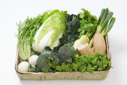 冬野菜の籠盛り